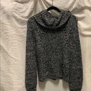 Kendall & Kylie black and white cowl neck sweater